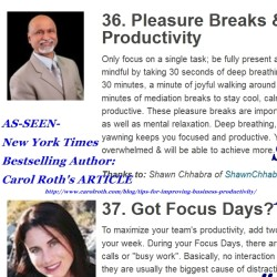 Shawn Chhabra's Productivity Tips: With Carol Roth
